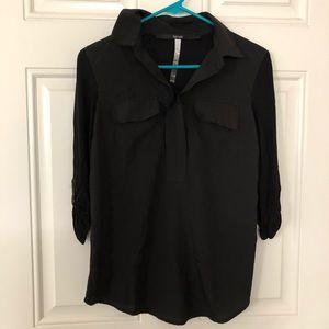 Kensie Black 3/4 Sleeve Top Size XS